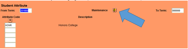 Graphic showing location of maintenance button.